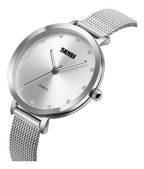 Relógio Feminino Skmei Original Luxo Resistente À Água