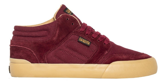 Zapatillas Wallride Mid Maroon Gangsta