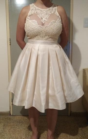 Vestido De Fiesta Corto Ideal Novia O 15