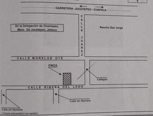 Terreno Con Casa El Chante, Jocotepec Jalisco Sup. 1,760 Mts