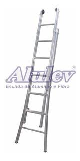 Escada Aluminio Extensivel Dupla 10 Degraus 2x10 -3,30/5,40