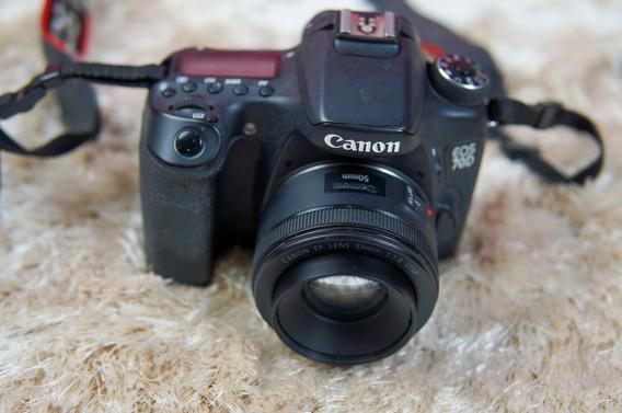 Camera Canon 70d + Lente 50mm 1.8 Impecável + Brindes