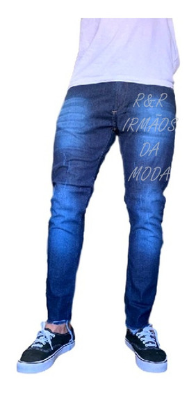 Calça Jeans Ou Sarja Masculina Slim Fit C Lycra Promoção Bege Preta Branca Azul Marrom Caramelo