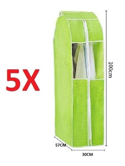 Kit 5 Organizador Porta Vestido Paleto Terno Camisa Guarda