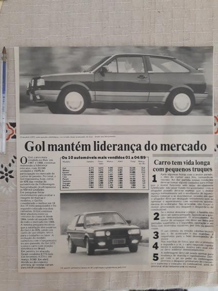 Recorte Jornal Matéria Reportagem Vw Gol Gti 1989 Anúncio Pu
