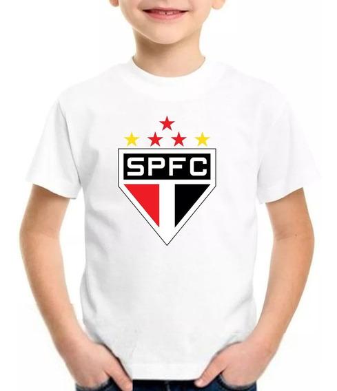 Camiseta Infantil Blusa São Paulo Futebol Nome Personalizado