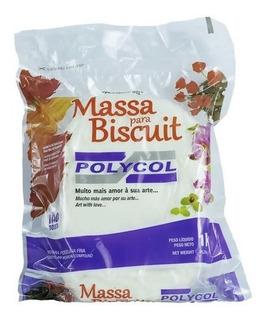 Caixa Massa Biscuit Polycol Branca 12un Artesanato