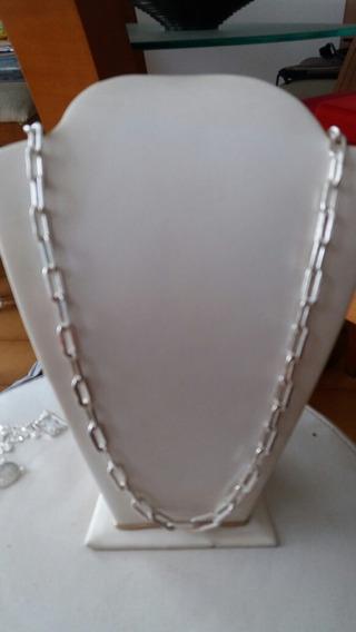 Cordão Prata 950 Cadiado Peso 55. Gramas