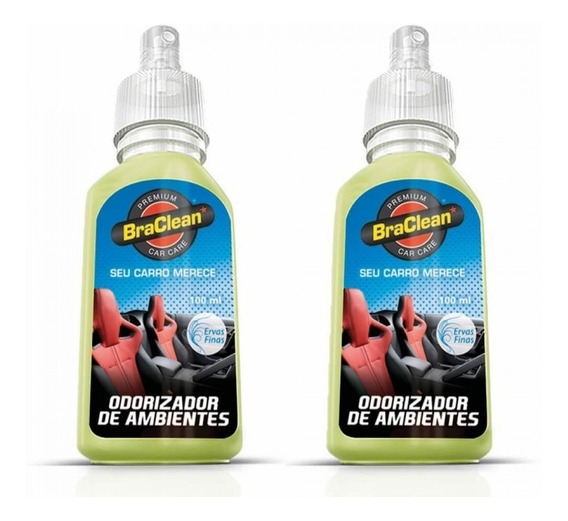 Tira Cheiro Neutralizador Carros 100ml Kit Com 2und - Bracle
