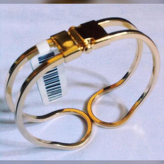 Bracelete Ajustável Banhado Á Ouro