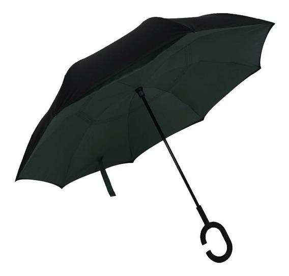 Paraguas Invertido Reversible Original Varios Colores 12ct E