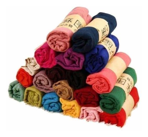 16 Pashminas Colores Surtidos Al Azar