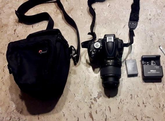 Câmera Nikon D5000 + Lente + Cartão De Memóri 8gbs + Bolsa