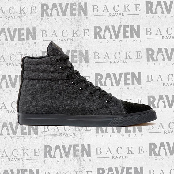 Zapatilla Raven Backe Full Negro