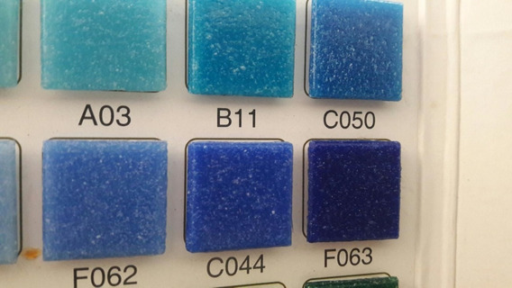 Mosaico Veneciano Vetrovenezia 2x2 Azul Mar Alberca C050