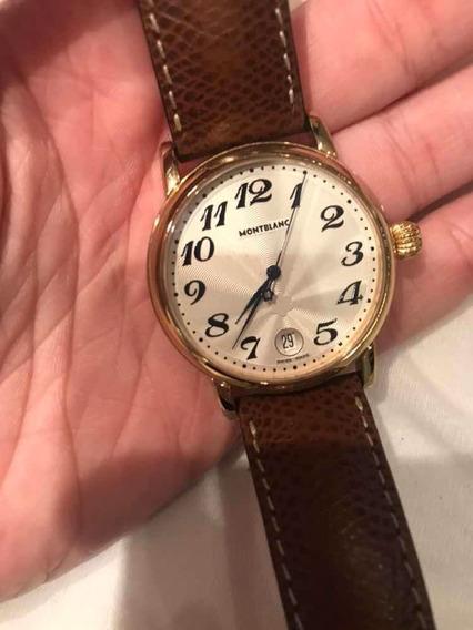 Relógio Original Montblanc Meisterstuck Em Ouro