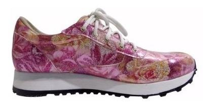 Zapatillas Estampadas Floreadas - Calzados Unión