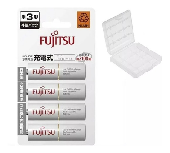 4 Pilhas Aa Recarregáveis 2100x Fujitsu Qualidade Eneloop