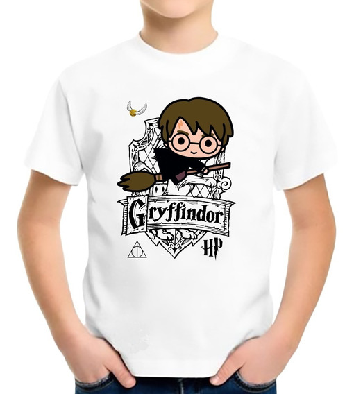 Camiseta Infantil Harry Potter Hermione Rony Gryffindor