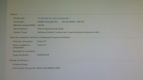 Computar Completo Intel Celeron 420, Placa De Vídeo 8400 Gs