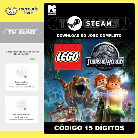 Lego Jurassic World Digital Pc Código 15 Dígitos Steam
