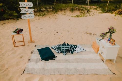 Imagem 1 de 1 de Decoração Romântica Na Praia Em Paraty-rj