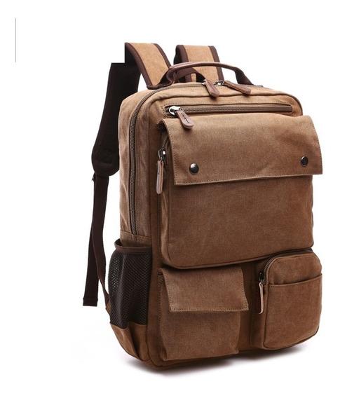 Mochila Feminina De Lona Reforçada Com Compartimento Para Notebook De Até 15,6 Polegadas Ideal Para Viagens E Uso Diário