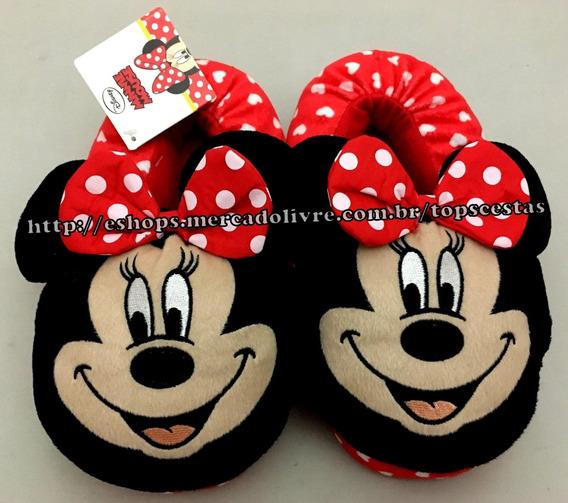 Pantufa Infantil Minnie Mouse Disney - Tamanho 32/33