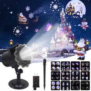 Proyector Láser De Navidad Con Efecto De Animación, Ip65