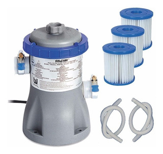 Bomba Bestway Completa Con 3 Filtros Para Piletas Inflables