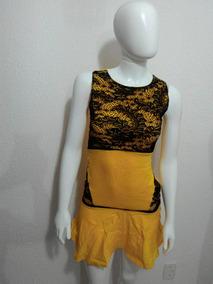 Vestido Com Detalhes De Renda Em Bengaline.