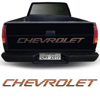 Faixa Chevrolet Silverado Conquest 99/00 Adesivo Traseiro