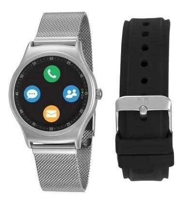 Relógio Smartwatch Seculus Troca Pulseira Prata