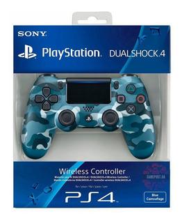 Control Playstation Dualshock 4 Ps4 Camuflado Azul Original