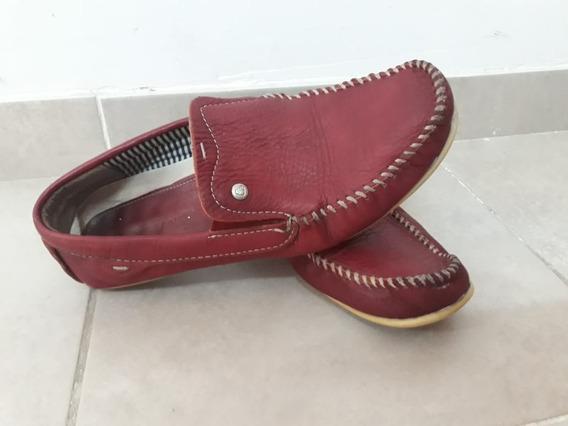 Zapato Nauticos Mocasines Cuero Marsanto Hombre 41 Bordo
