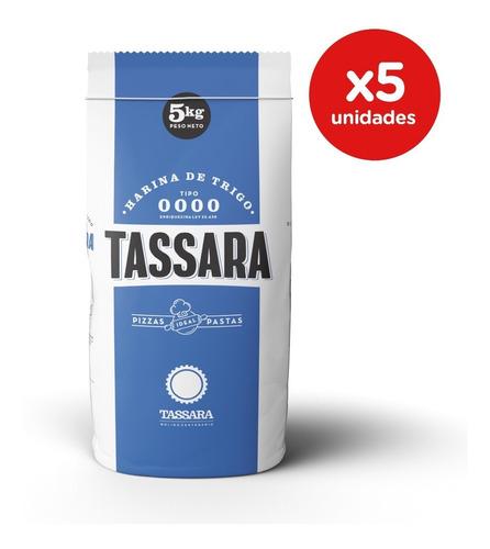 Harina De Trigo 0000. Pack 5 X 5 Kgs. Tassara