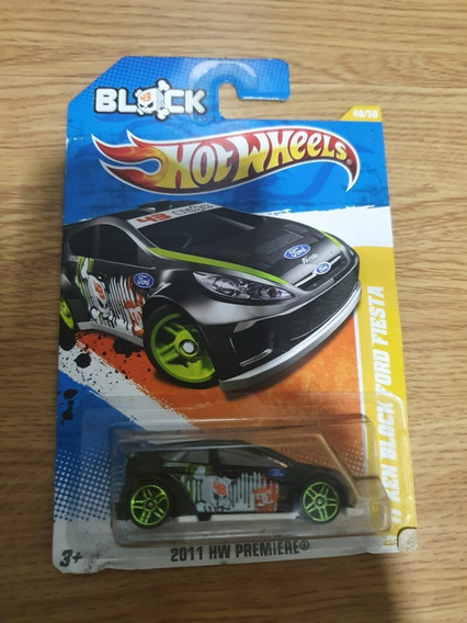 Hot Wheels Preto 2011 Ken Block Ford Fiesta Drift Premiere