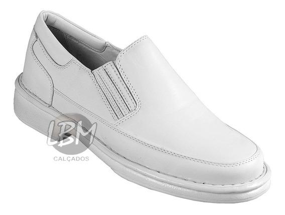 Sapato Anti Stress Para Médicos E Infermeiros Couro Branco