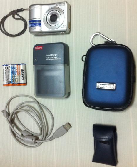 Camera Digital Olympus X-760 + Baterias + Carregador + Card