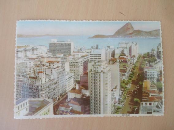 Antigo Postal Av. Rio Branco E Centro, Rio De Janeiro, 1960