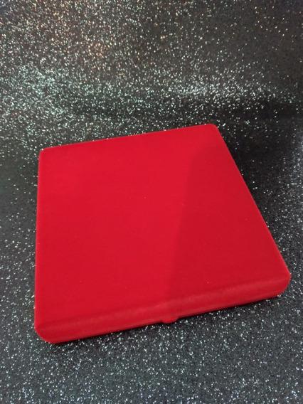 Caixa De Veludo Vermelha Para Joia E Colar