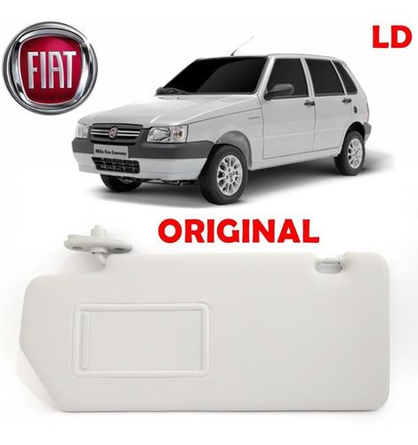 Imagem 1 de 5 de Quebra Sol Fiat Uno 2004/2010 Cinza C/ Espelho Lado Direito