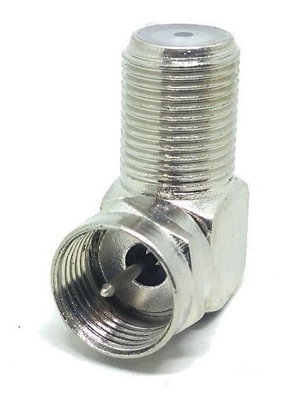 Kit 1 Conector Fêmea 90 Graus Antena