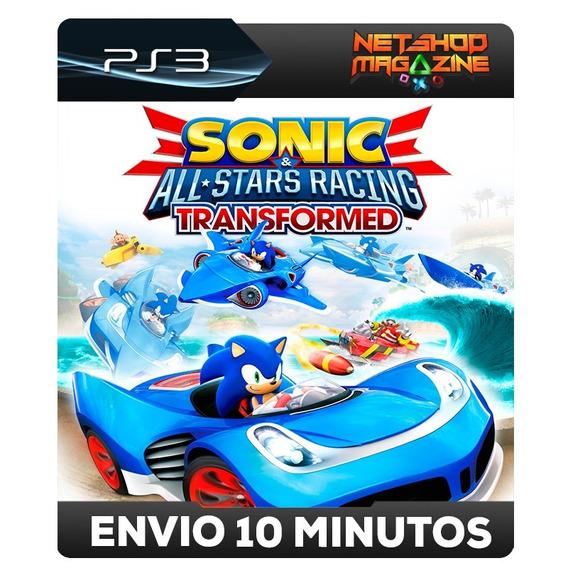 Sonic & All-stars Racing Transformed - Psn Ps3 - Envio Agora