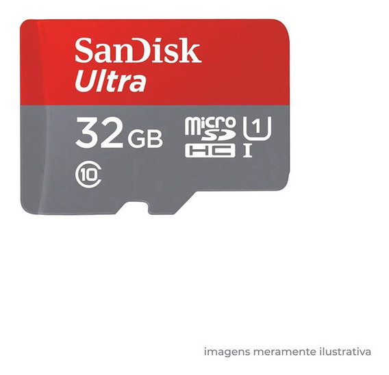 Cartão Memória Micro Sd 32gb Sandisk Câmeras Segurança Tf