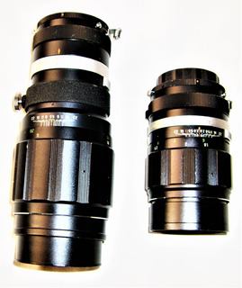 ¡-2 Lentes C/montura Miranda De Marca Soligor-1-300mm-1-135m