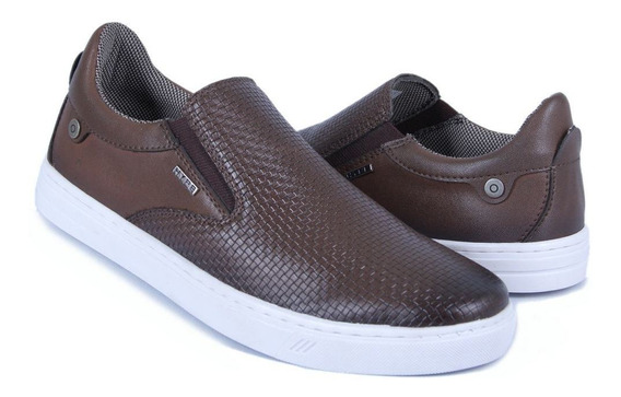 Sapatênis Tênis Iate Slip On Casual Calce Facil Café