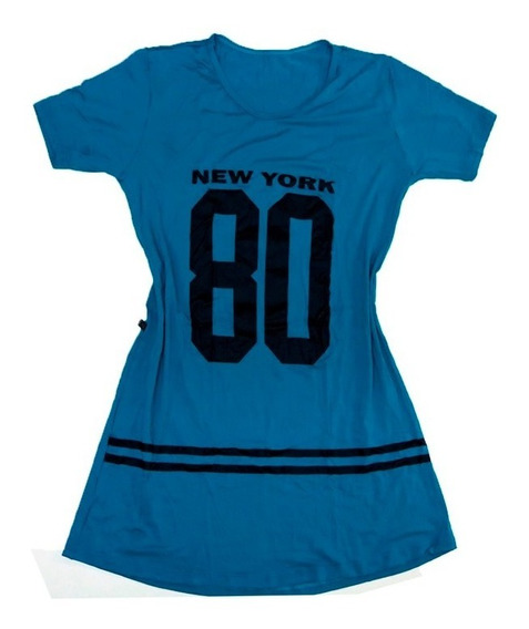 Kit 2 Vestido Camisão Camisa Longline Feminino Ny Swag 099