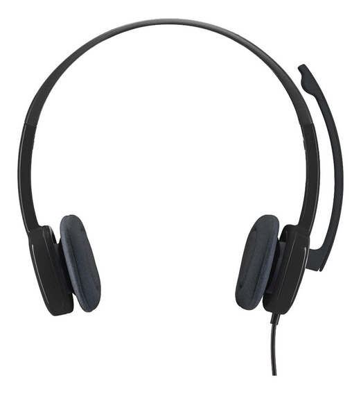 Fone Com Microfone H151 Logitech Estéreo Analógico P3 Preto