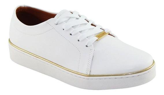 Tênis Vizzano Feminin Pelica Branco Detalhe Dourado 1214.105